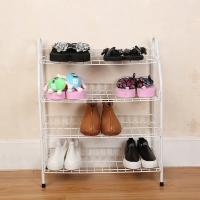 H270 Durable Steel Metal Mesh Shoe Rack Quick And Easy Assembly White Color