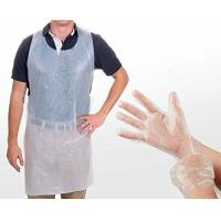 Safety Disposable Medical Aprons , Disposable Kitchen Aprons 17 Mic Thickness Manufactures