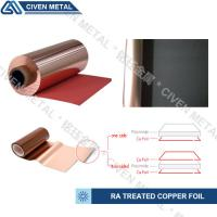 Red / Black Fatigue Resistance Treated Ra Copper Foil 12um 18um 25um Manufactures