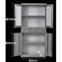 Hospital Use Instrument Stainless Steel Medical Cabinet Half Glass Door With Locker Manufactures