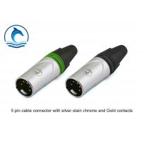 Audio Cable XLR Audio Connector 5 Hole CL-5MX Silver Housing Gold Contacts Manufactures