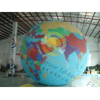 Custom 5m PVC Durable Inflatable Globe Ball Helium For Tade Show Manufactures