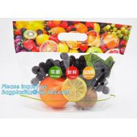 slider zip lock packaging fruit bag for cheery and grape, Vegetable refrigerate used resealable k packaging bag Manufactures