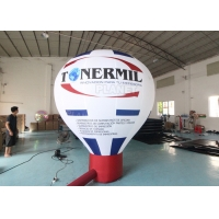 Roof Advertising Giant Model Hot Air Balloon Shape Inflatable Ground Balloons For Promotional Advertising Manufactures
