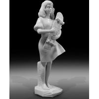 Indoor art exhibition marble sculptures beautiful girl stone statue,stone carving supplier Manufactures