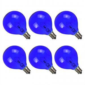 Wax Warmer Bulbs Incandescent globe Light Bulb filament , G50 Round 25 Watt Blue standard light bulb Manufactures