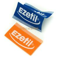 White Taffeta Woven Custom Clothing Brand Labels With Centre Fold Eco Friendly Manufactures