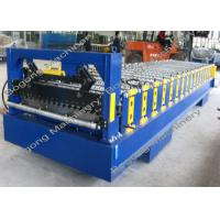Metal Corrugated Roof Panel Roll Forming Machine 8 - 15m / Min Forming Speed