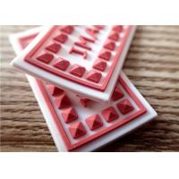 Personalized 3D Rubber Patches For Clothes / Hat Eco - Friendly Manufactures