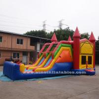 4 In 1 Amusement Park Inflatable Bounce Houses Rentals EN14960 Approvals Manufactures