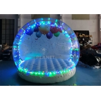 3 Meter Dia Inflatable Snow Globe Photo Booth With Blowing Manufactures