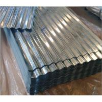China RAL Colour Galvanized Corrugated Roofing Sheets , Corrugated Roofing Material Embossed on sale