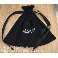 100% Cotton Canvas Favor Bag Pouch with Drawstring,Cotton Breathable Dust-Proof Drawstring Storage Pouch Multi-Functiona Manufactures