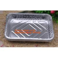 extra-large disposable rectangle aluminium foil deli tray food foil container for takeaway food foil containers with lid Manufactures