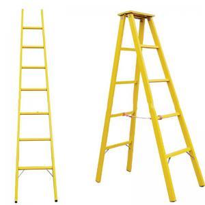 Folding fiberglass a frame ladder corrosion resistant insulated herringbone ladder Manufactures