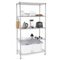 H173 Simple Design Metal Display Shelf Carbon Steel Beautifully Silver - Finished Manufactures