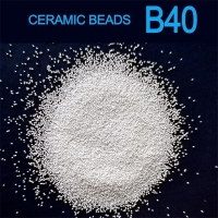 Buy cheap B40 0.425mm Ceramic Beads Abrasive Blasting Media For Stainless Steel Plate from wholesalers