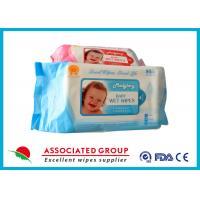 Buy cheap Disposable No Fragrance Baby Wet Wipes 80pcs Flowpack With Lid Small Dot from wholesalers