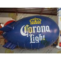 Eye - Catching Inflatable Helium Zeppelin Blue Blimps For Trade Shows Manufactures