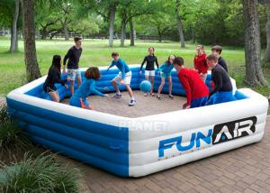 Funny Portable Interactive Inflatable Gaga Ball Pit / Inflatable Gaga Ball Court For Kids Outdoor Games Manufactures