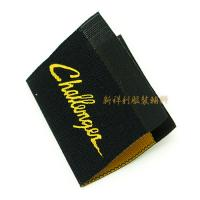 Damask Woven Clothing Labels With Centerfold , Woven Name Tags For Clothes Manufactures