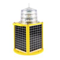 High efficiency optional monitoring 12v medium intensity solar aircraft warning lights for towers crane chimney building Manufactures