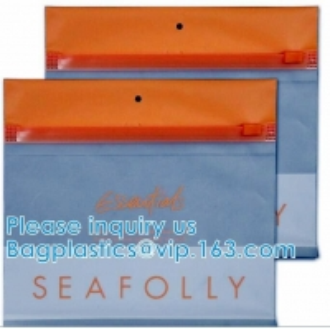 Zipper Pouch Plastic Cosmetic Bag Pouch Vinyl Slider Zipper Bag, Travel Toiletry Cosmetic Bag, Zipper MakeUp Pouch Manufactures