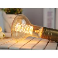 Quality Tungsten Vintage Edison Light Bulbs R80 Screw Spiral Oxidation Resistance for sale