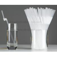 Disposable cute plastic white straight drinking straw, PLA individually wrapped drinking Straws, PLA straws disposable Manufactures