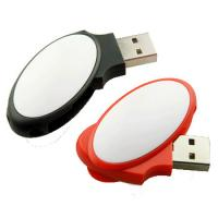 Oval Shaped  4gb Usb Swivel Flash Drive  USB2.0 Plastic Material  51*20*10mm Manufactures
