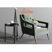 Green Fabric Upholstery Wooden Lounge Chair / Hotel Leisure Area Furntiure Manufactures
