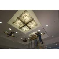 translucent onyx ceiling with glass caldding stone panel Manufactures