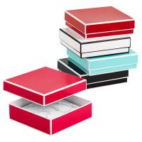 Recyclable Colorful Kraft Jewelry Paper Boxes / Bracelet Packaging Box Manufactures