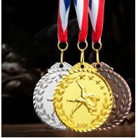 Factory Wholesale metal zinc alloy gold silver copper custom taekwondo medal with ribbon fast delivery Manufactures