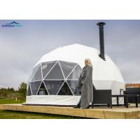 Buy cheap Flame Retardant 6m Geoshelters Geodesic Dome Tent With Roof Lining For Hotel from wholesalers