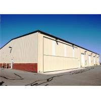 Durable Prefab Airplane Hangar Steel Structure With Sandwich Panel Wall & Roof Manufactures
