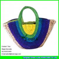 LUDA new 2015 sea grass straw bag women fashion natural colorful tote bag Manufactures