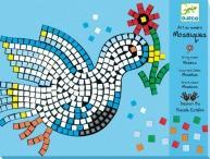 Djeco Dove & Rooster Mosaic Craft Kit Manufactures