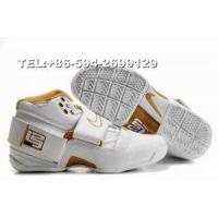 316643-119 Nike Zoom LeBron IV James basketball shoes(white/golden) Manufactures