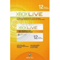 Microsoft Xbox Live 12 Month Gold Subscription Card Manufactures