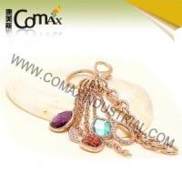 Fancy keychains FK-0148 Rose Gold Plated Diamond Metal Fancy Keyrings Manufactures