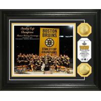 Boston Bruins 2011 Stanley Cup Banner Raising 24KT Gold Coin Photo Mint