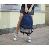 Wholesale Canvas Korean Style Japan Snowflake Design Backpack School Bag#A02-0065 Manufactures