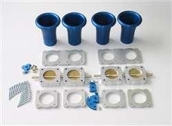 Quality throttle block kit 4cyl 40mm to 50mm throttle plates - 80mm Throttle Centres for sale