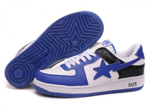 Quality Bape New and Better shoes blue / white for sale
