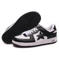 Buy cheap Bape New and Better shoes black / white from wholesalers