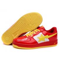 Bape Cartoon shoes red / white / yellow Manufactures