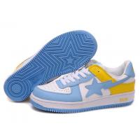Buy cheap Bape New and Better shoes blue / white / yellow from wholesalers