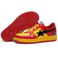 Bape Cartoon shoes red / yellow Manufactures