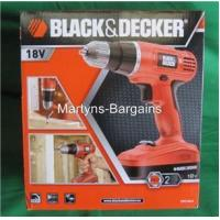 Black & Decker 18V Cordless Drill with 2 Batteries & 30 Pc Drill Accessory Kit 82.00